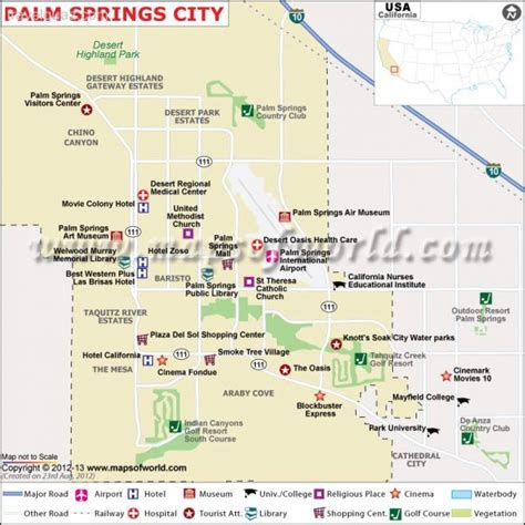 palm springs map palm springs city map travelquaz
