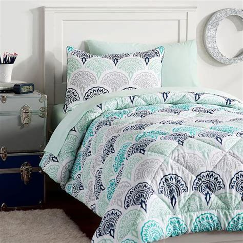 cute bedding for college feather scallop deluxe value comforter from pbteen college
