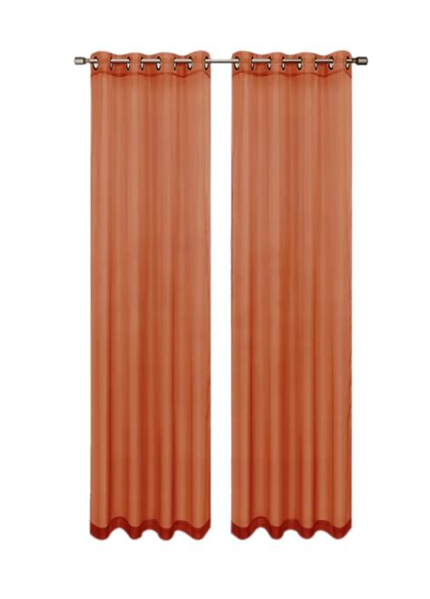 rust colored sheer curtains rust colored sheers