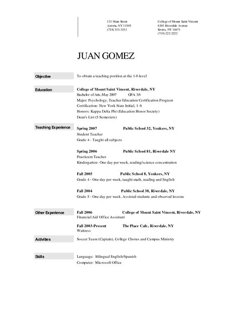 formal resume sle 28 images format resume jobstreet