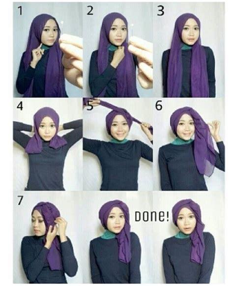 gambar tutorial hijab unik life style hijabers inilah kumpulan gambar tutorial hijab