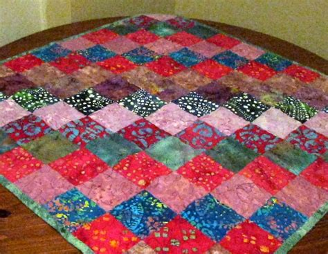 baby quilt hippie batik quilt dyed by desertskyquilts