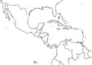 Outline Map Of America And Caribbean by Blank Map Of Caribbean Islands