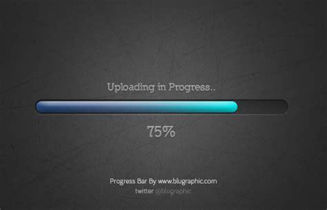 blue gradient progress bar psd
