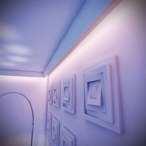 attach the coving to the ceiling and fit with led lights