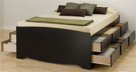 Platform Storage Bed With 12 Drawers by Black 12 Drawer Platform Storage Bed By Prepac