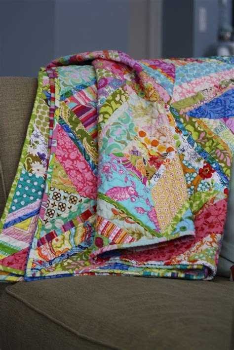 Bright Colored Quilts fibers bright colored scrappy quilt finished