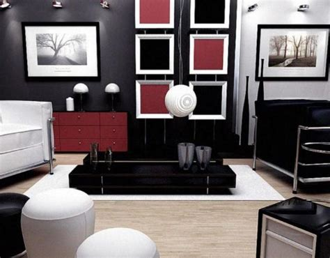 Salon Gris Et Noir
