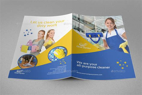 cleaning service brochure templates cleaning services brochure template 16 pages by