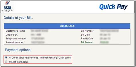 how to pay bsnl landline broadband bill