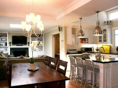 small living room kitchen dining room combo open