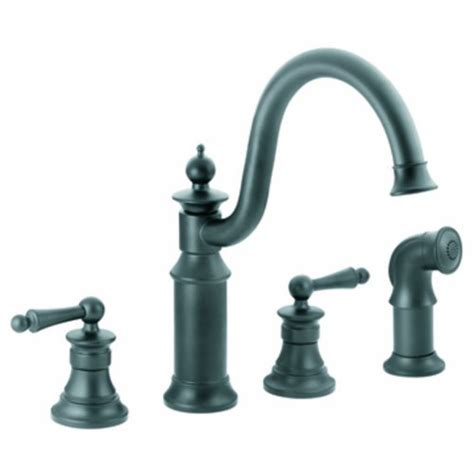 Moen Waterhill Kitchen Faucet Moen S712wr Waterhill Two Handle High Arc Kitchen Faucet Wrought Iron Carvalho Cunhatas