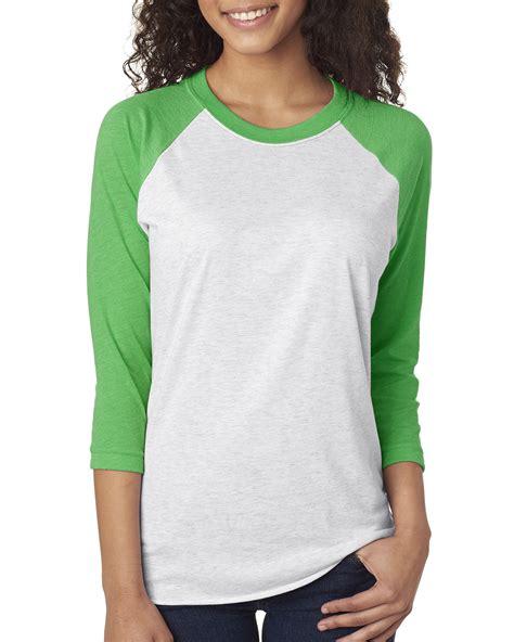 Top Ten Baby Pink Sleeve Shirt next level apparel 6051 unisex triblend three fourth