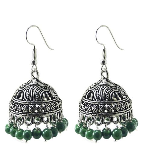 jewelry place german silver designer jhumki earrings buy