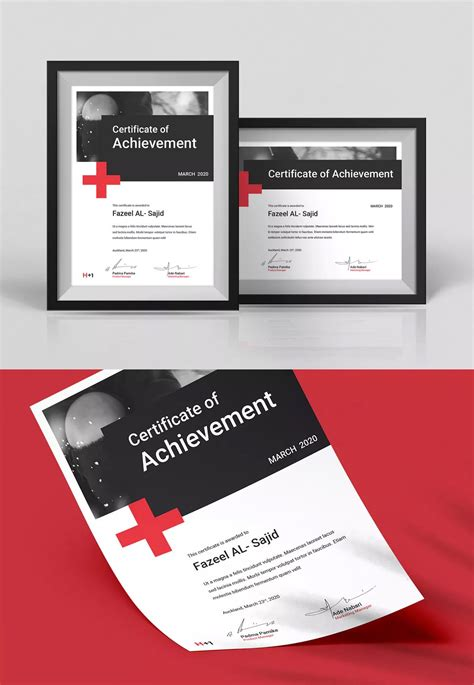 certificate template indesign indd letter size