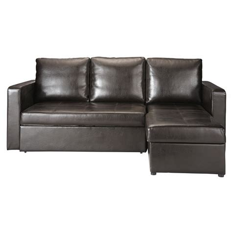 3 seater corner sofa bed 3 seater corner sofa bed in brown toronto maisons du monde