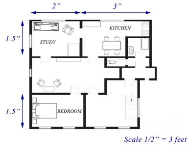 floor plan to scale floor plan with scale home design