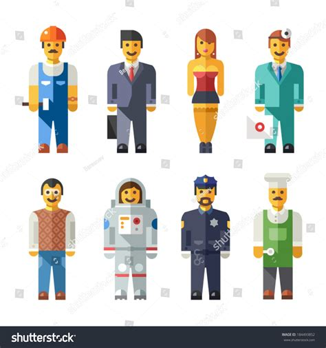 banker profession vector illustration different professions banker