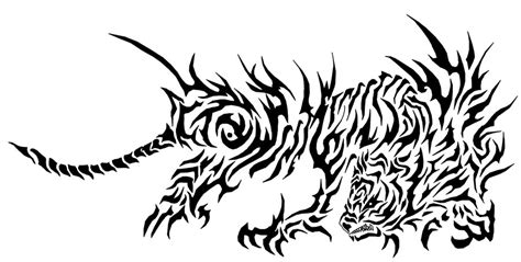 tribal tiger by aldokurnia90 on deviantart