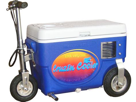 motorized chest cooler scooter blue cruzin cooler electric scooter chest box marine