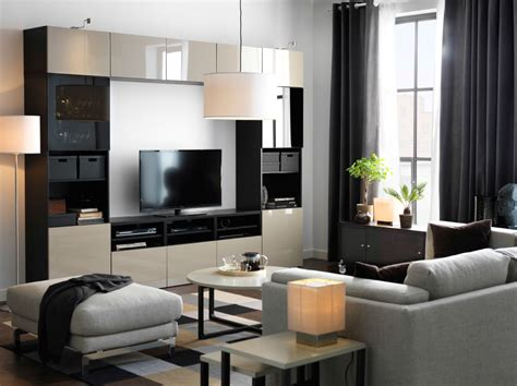livingroom storage a large tv storage combination in black brown with beige