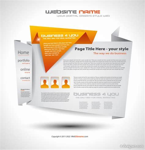 free creative website templates 15 vector web design templates images header design