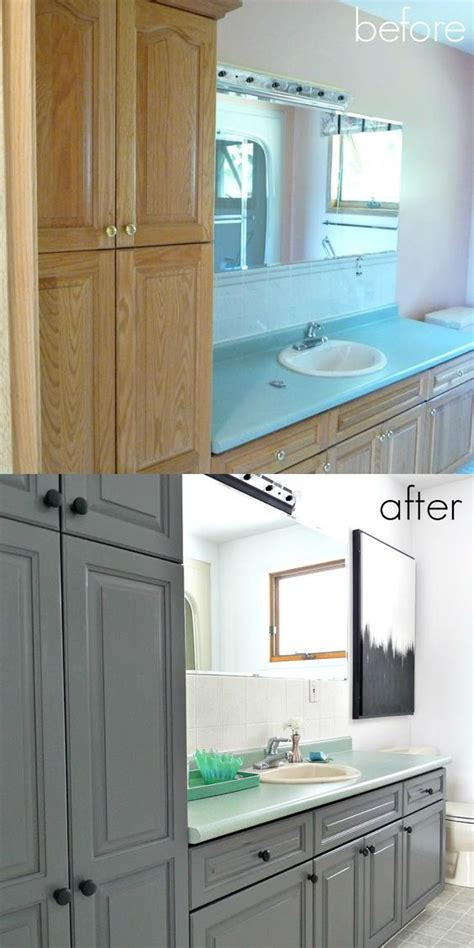 20 Smartest Ways Of Painting Bathroom Vanity Before And After Painting Bathroom Vanity Before And After