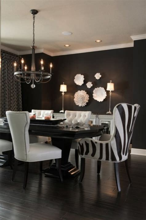black and white dining room dining room