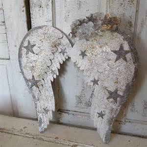 angel wings home decor star embellished angel wings wall decor white by