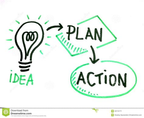 make a blue print draw of idea plan and action stock photo image 43115771