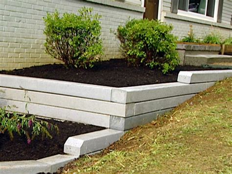 Garden Wall Materials How To Install A Timber Retaining Wall Hgtv