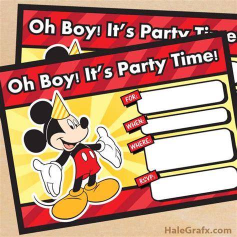 mickey mouse printable birthday invitations gangcraft net