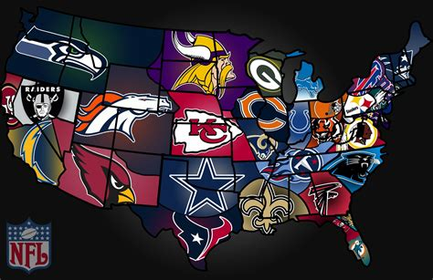 map usa football teams football map nfl teams usa football stats and stuff