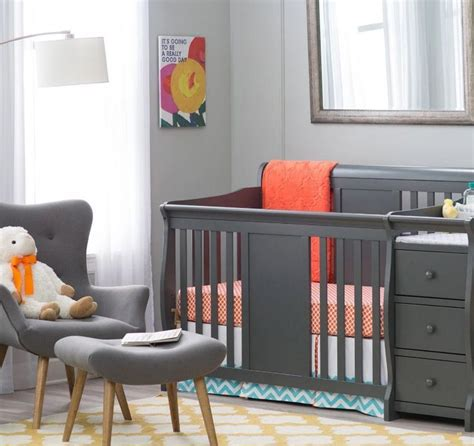 Baby Crib Changing Table Combo Top 25 Ideas About Crib With Changing Table On Striped Nursery Baby Boy Nursery