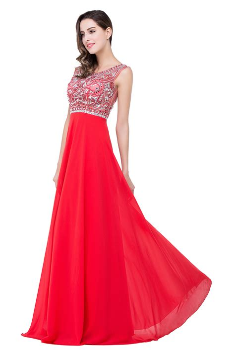 www dress sexy red long crystal beadings prom dress 2017 chiffon