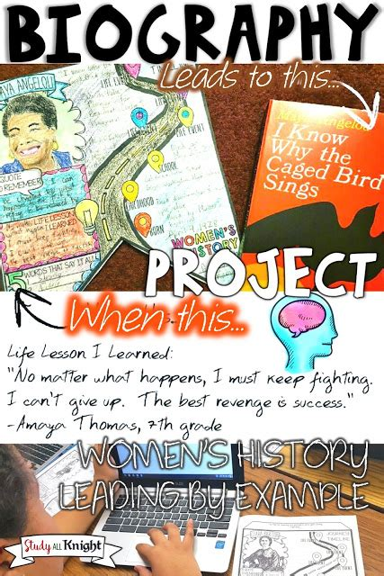 biography exle middle school women s history biography project great bulletin board