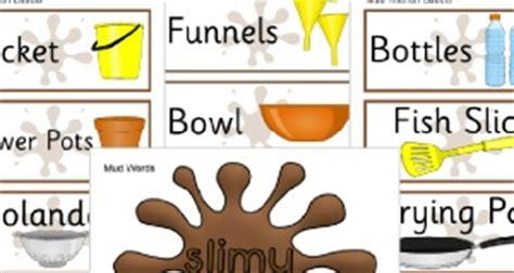 Mud Kitchen Labels Mud Kitchen Recipe Ingredient Cards Sb11579 Sparklebox