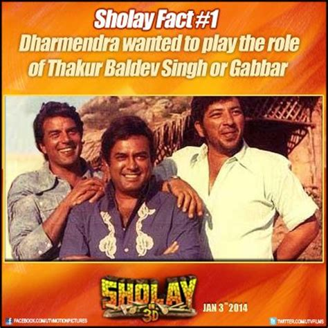 biography of movie sholay in sholay can you imagine dharmendra playing the role of