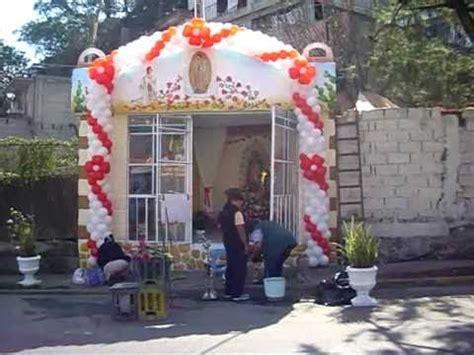 arreglo con globos para altar virgen de guadalupe decoracion con globos capilla en las tinajas cuajimalpa