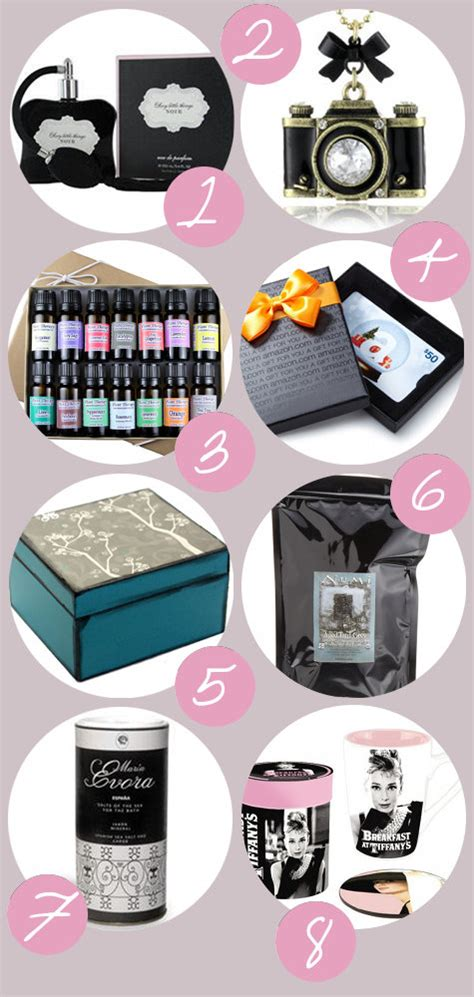 a holiday gift guide for her gifts to buy and gifts to