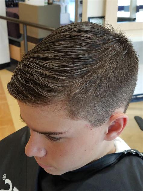 teen boy haircut fade
