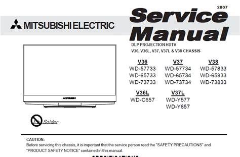 mitsubishi projection tv blinking green light i a mitsubishi wd 65833 and the blinking light