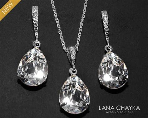 how to make swarovski jewelry bridal jewelry set clear earrings necklace