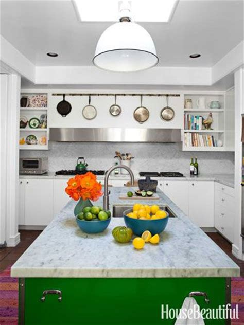 To Market Green Kitchen by A Malibu Home With Electric Color White Kitchens Fleas