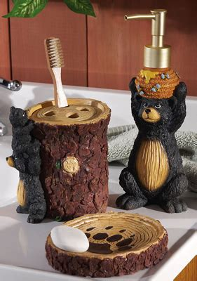 bear bathroom accessories sets collections etc find unique online gifts at