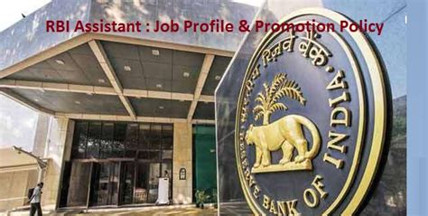 Rbi Careers For Mba by Rbi Assistant Profile And Career Growth