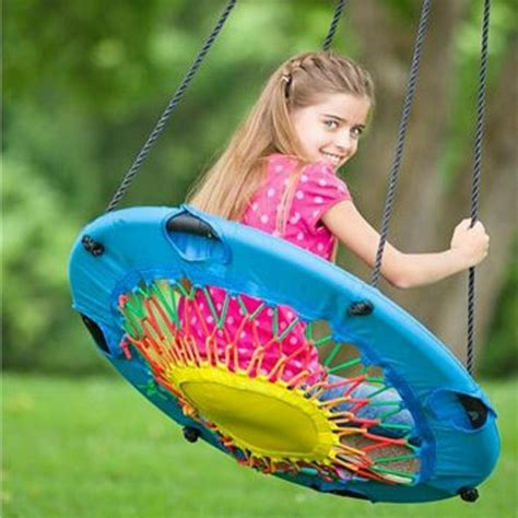 bungee cord swing modern tree swing bungee cord chair round web swingset