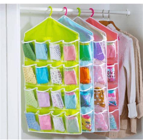 Korean Pouch Organizer Penyimpan Pakaian Dalam Kaos Kaki hanging bag organizer simpan pakaian dalam dan kaos kaki dengan lebih rapi harga jual