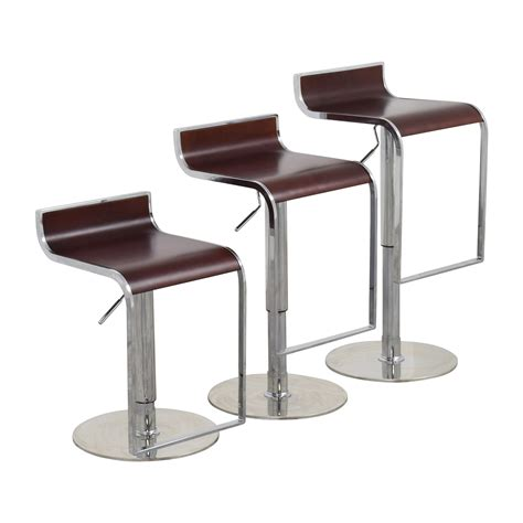 2nd hand bar stools 84 off inmod inmod forest brown adjustable bar counter