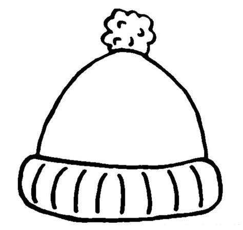 snow hat template winter hat coloring page jacb me